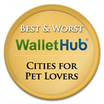 2014 best and worst cities for pet lovers badges